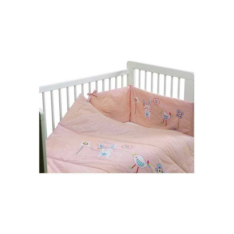 Bunny & Chick vaikiškos lovytės užklotas- Pink