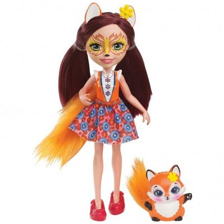 Lėlė Enchantimals Kiškutė  Bry su gyvūnėliu