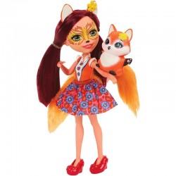 Lėlė Enchantimalsutė Laputė Fecija su gyvūnėliu