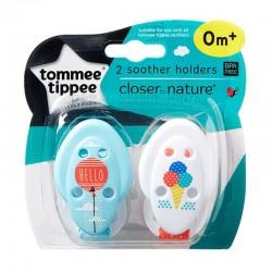 Tommee Tippee Closer to Nature čiulptukų laikikliai 2 vnt.