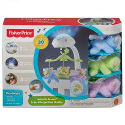 Fisher-Price Butterfly 3 in 1 Projektorius - Muzikinė Karuselė