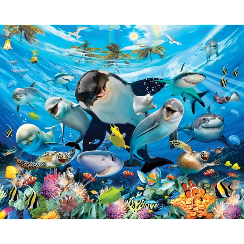 Walltastic Graffiti Wallpaper Mural: Walltastic Sea Adventure Wallpaper Mural