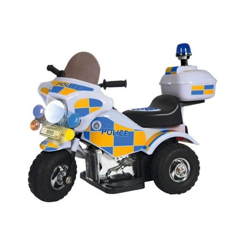 Policininko motociklas su sirena