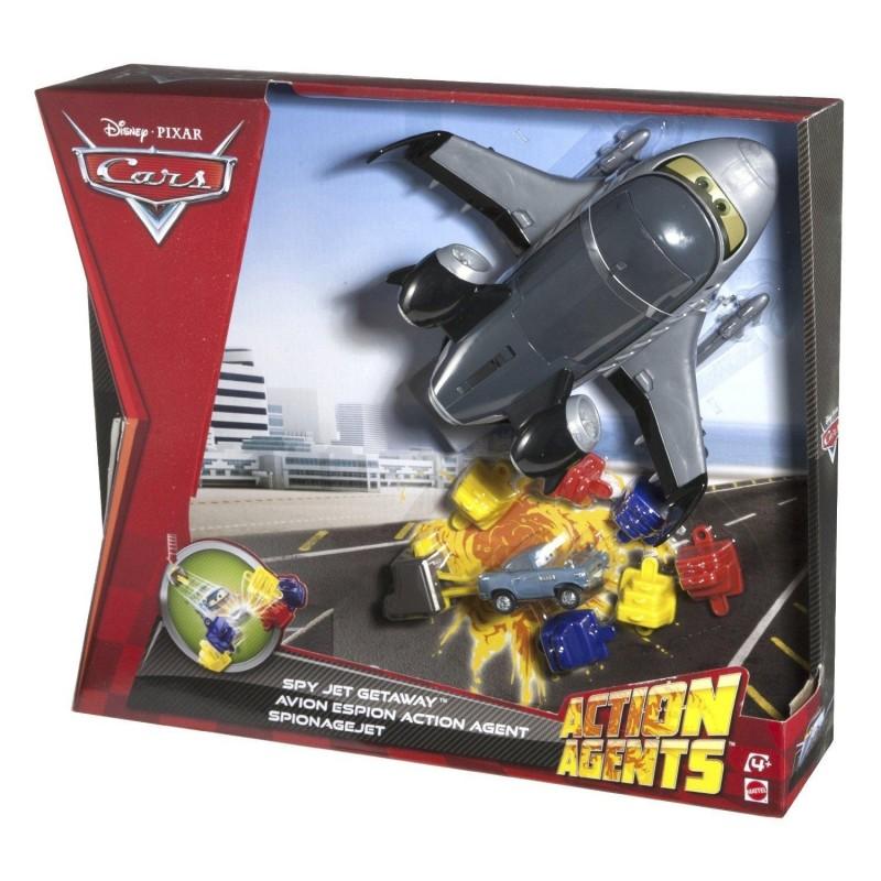 Cars 2 Action Agent sidley Spy jet Rinkinys